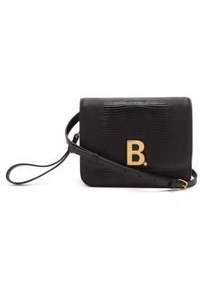 Balenciaga B. small lizard-effect leather cross-body bag