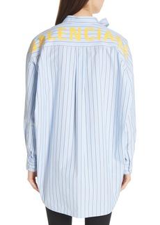 Balenciaga Back Logo Stripe Shirt