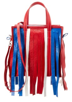Balenciaga Bazaar Fringe Small Leather Shopper Tote
