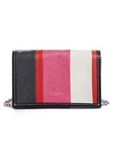 Balenciaga Bazar Leather Wallet on a Chain