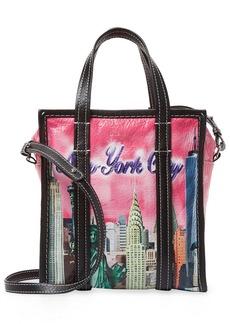 Balenciaga Bazar New York Xs Leather Shopper Tote
