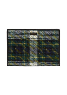 Balenciaga Bazar plaid clutch