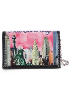Balenciaga Bazar Printed Leather Wallet on a Chain