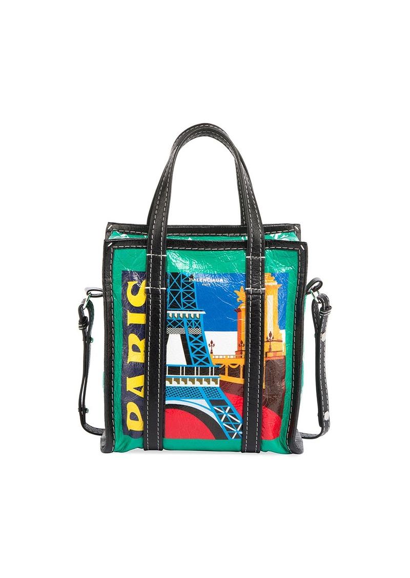 ccacbee47c Balenciaga Bazar Shopper Extra-Small Paris-Print Tote Bag | Handbags