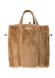 Balenciaga Bazar Shopper Large Shearling Fur Bag