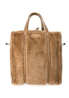 Balenciaga Bazar Shopper Large Shearling Fur Bag