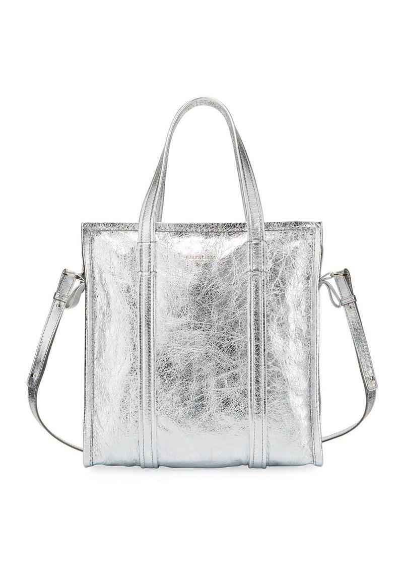 Balenciaga Bazar Shopper Small AJ Metallic Leather Tote Bag