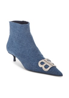 Balenciaga BB Denim Bootie (Women)