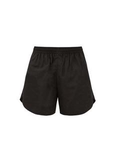 Balenciaga BB-embroidered shell shorts