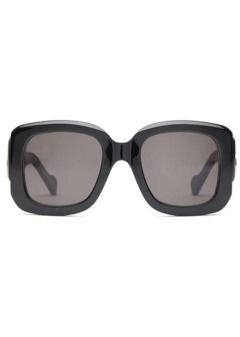 Balenciaga BB-hardware square acetate sunglasses
