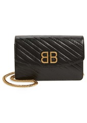 Balenciaga BB Leather Wallet on a Chain
