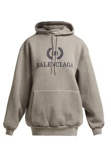 Balenciaga BB logo cotton-blend hooded sweatshirt