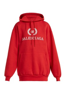 Balenciaga BB logo cotton-blend hooded sweatshirt