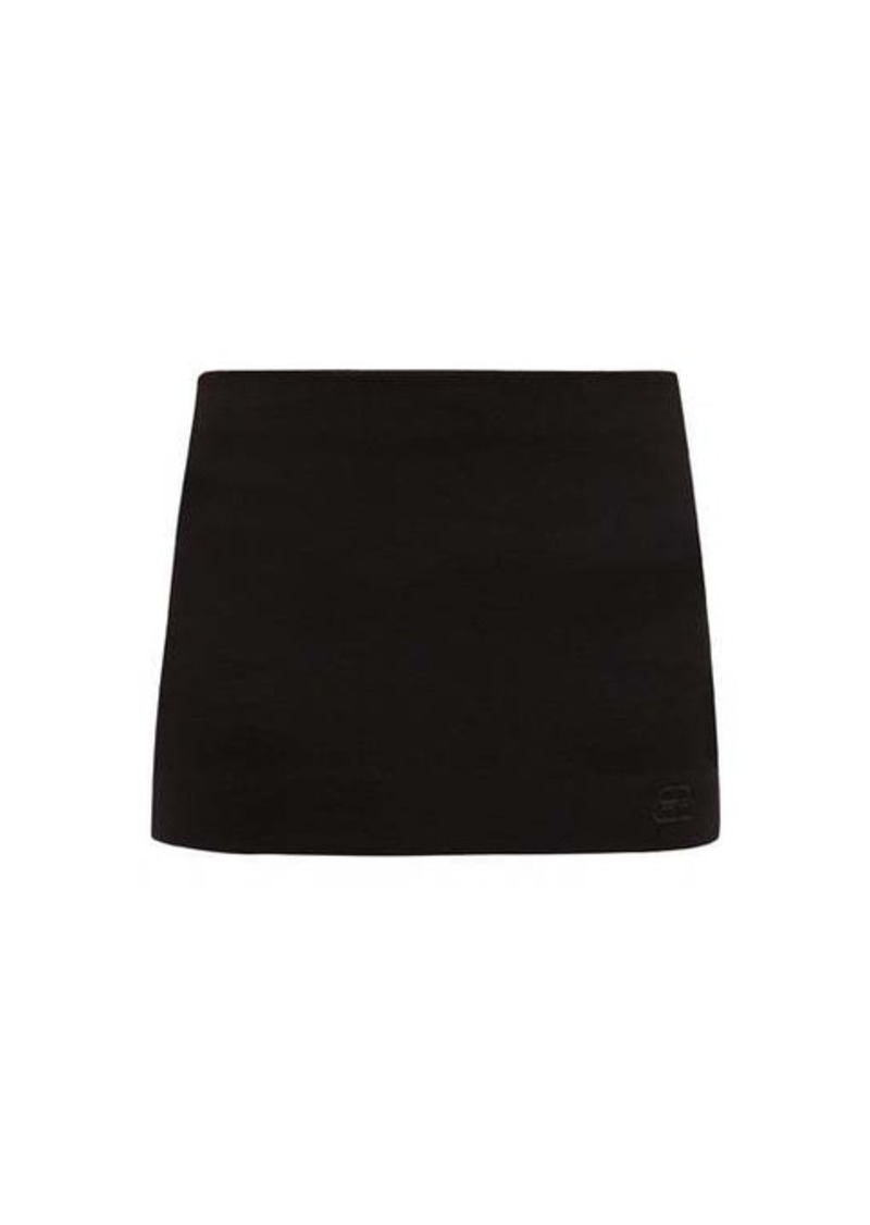 Balenciaga BB-logo embroidered twill mini-skort