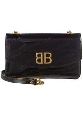 Balenciaga Bb Logo Imprinted Patent Shoulder Bag