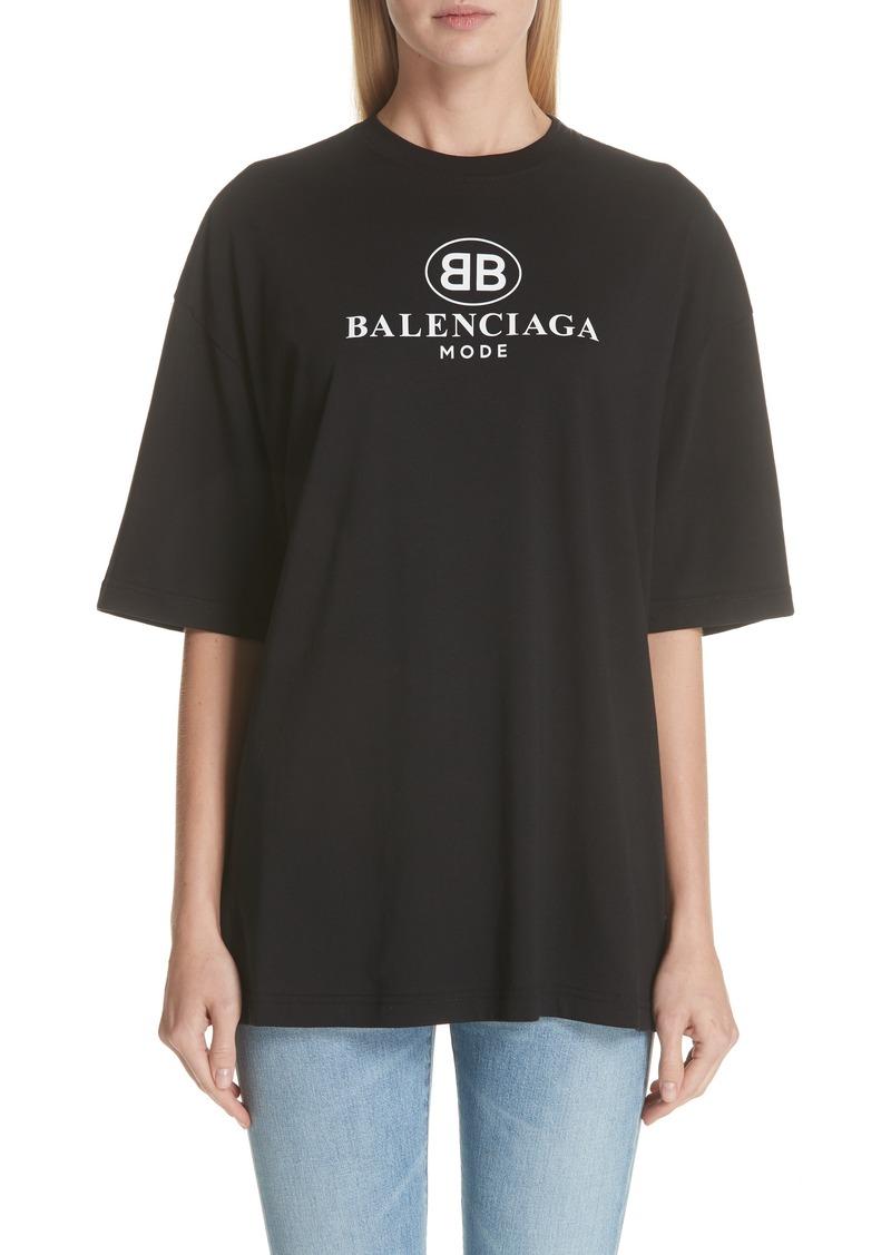931e3efab901 Balenciaga Balenciaga BB Logo Oversize Tee | Casual Shirts