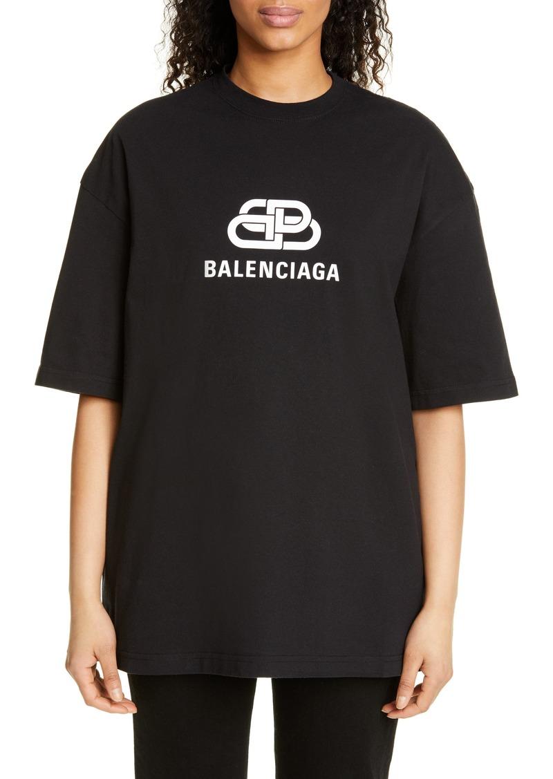 Balenciaga BB Logo Oversized Tee