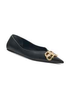 Balenciaga BB Logo Pointy Toe Flat (Women)