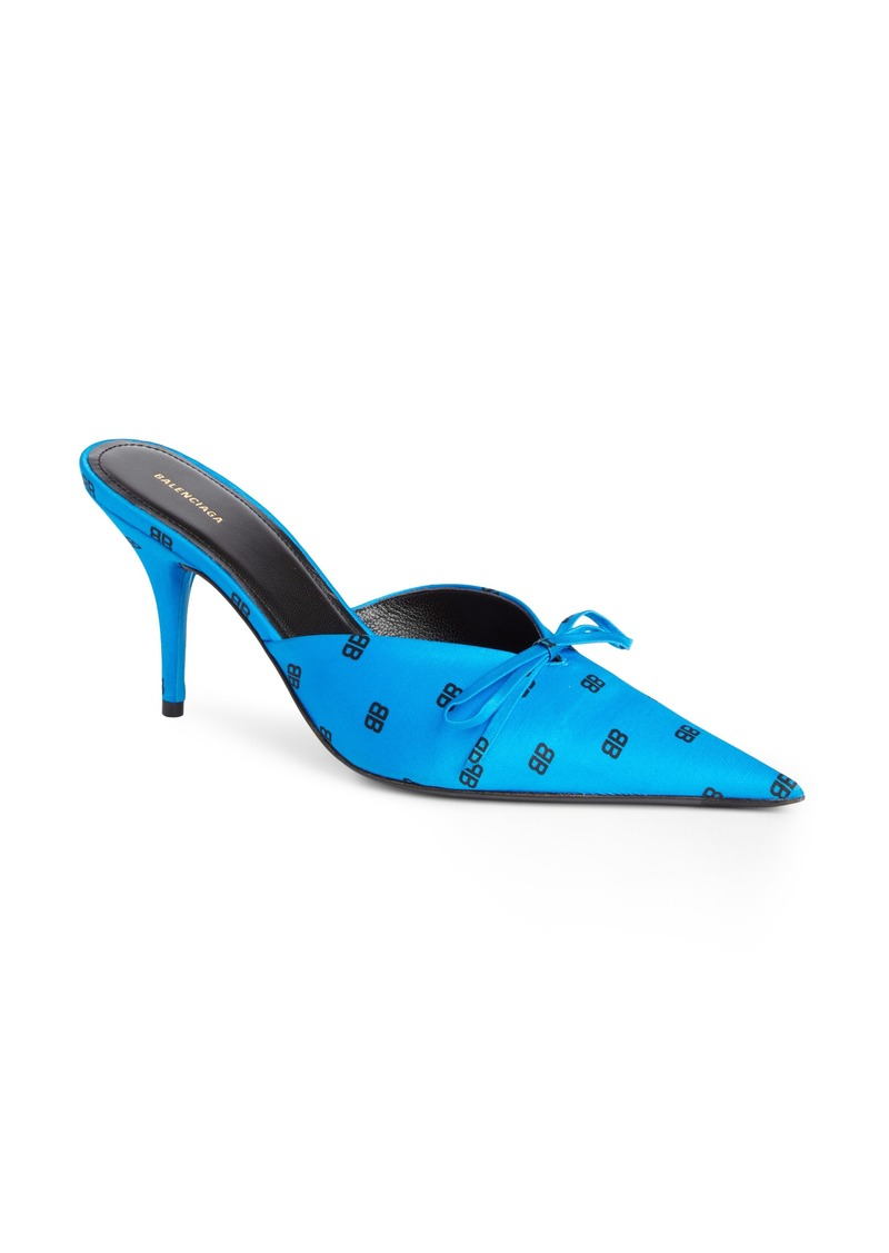 996128c183f Balenciaga Balenciaga BB Logo Pointy Toe Mule (Women)