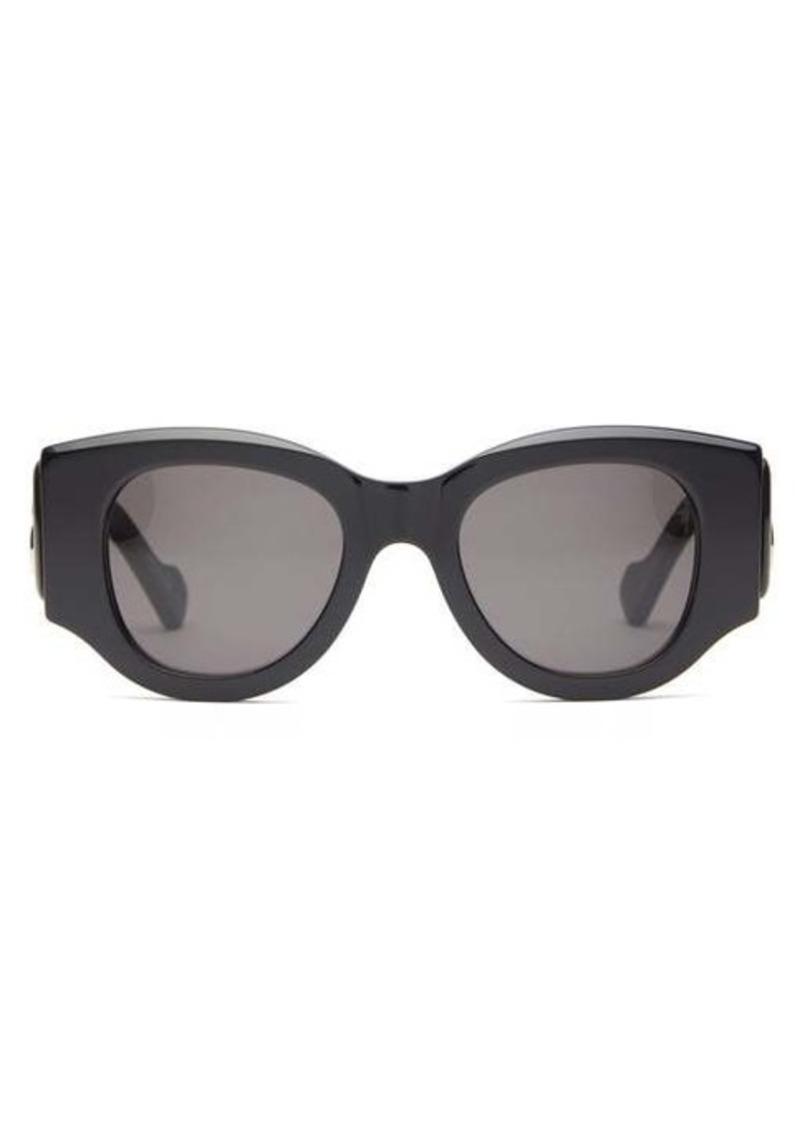 Balenciaga BB-logo round acetate sunglasses