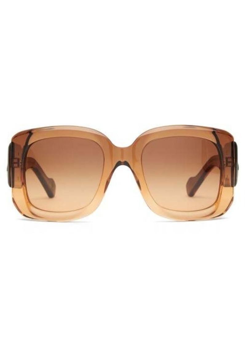 Balenciaga BB-logo square acetate sunglasses