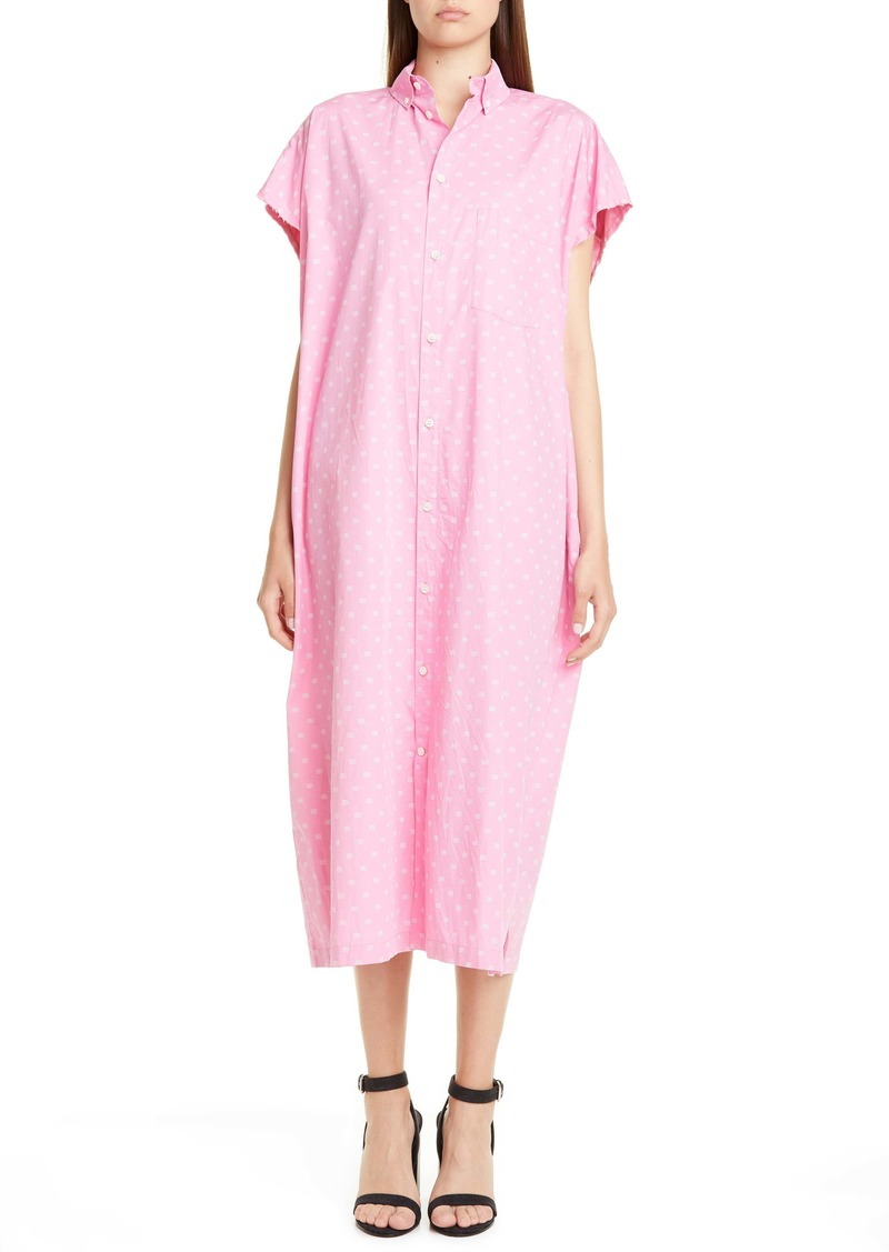 Balenciaga BB Poplin Midi Shirtdress