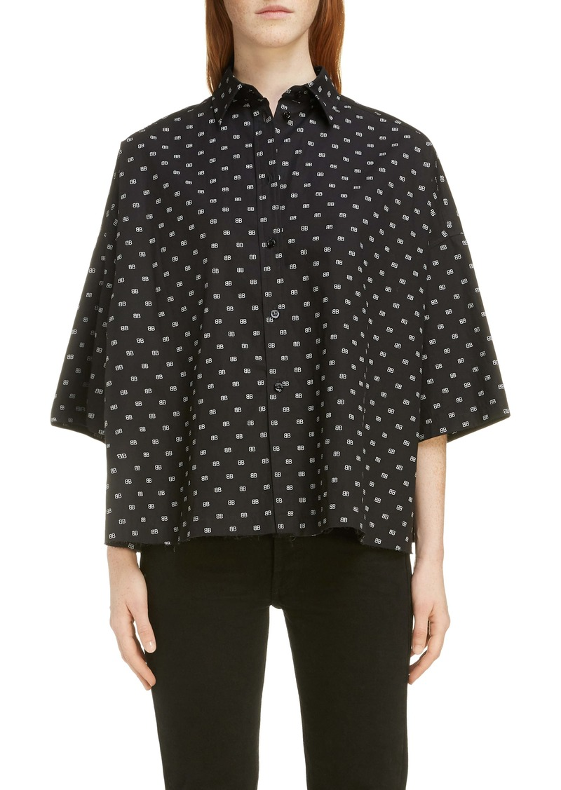 Balenciaga BB Poplin Swing Blouse