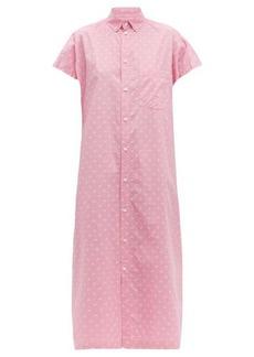 Balenciaga BB-print cotton-poplin shirtdress