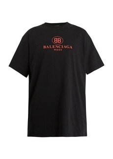 Balenciaga BB-print cotton T-shirt