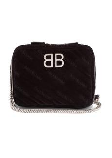 Balenciaga BB Reporter XS quilted-velvet bag