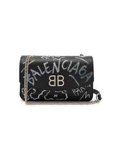 Balenciaga BB Round graffiti bag