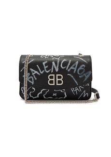 Balenciaga BB Round graffiti bag