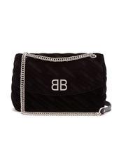 Balenciaga BB Round M velvet bag