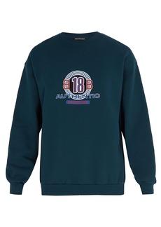 Balenciaga BB18-print cotton-blend sweatshirt