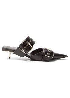 Balenciaga Belt Buckle leather mules