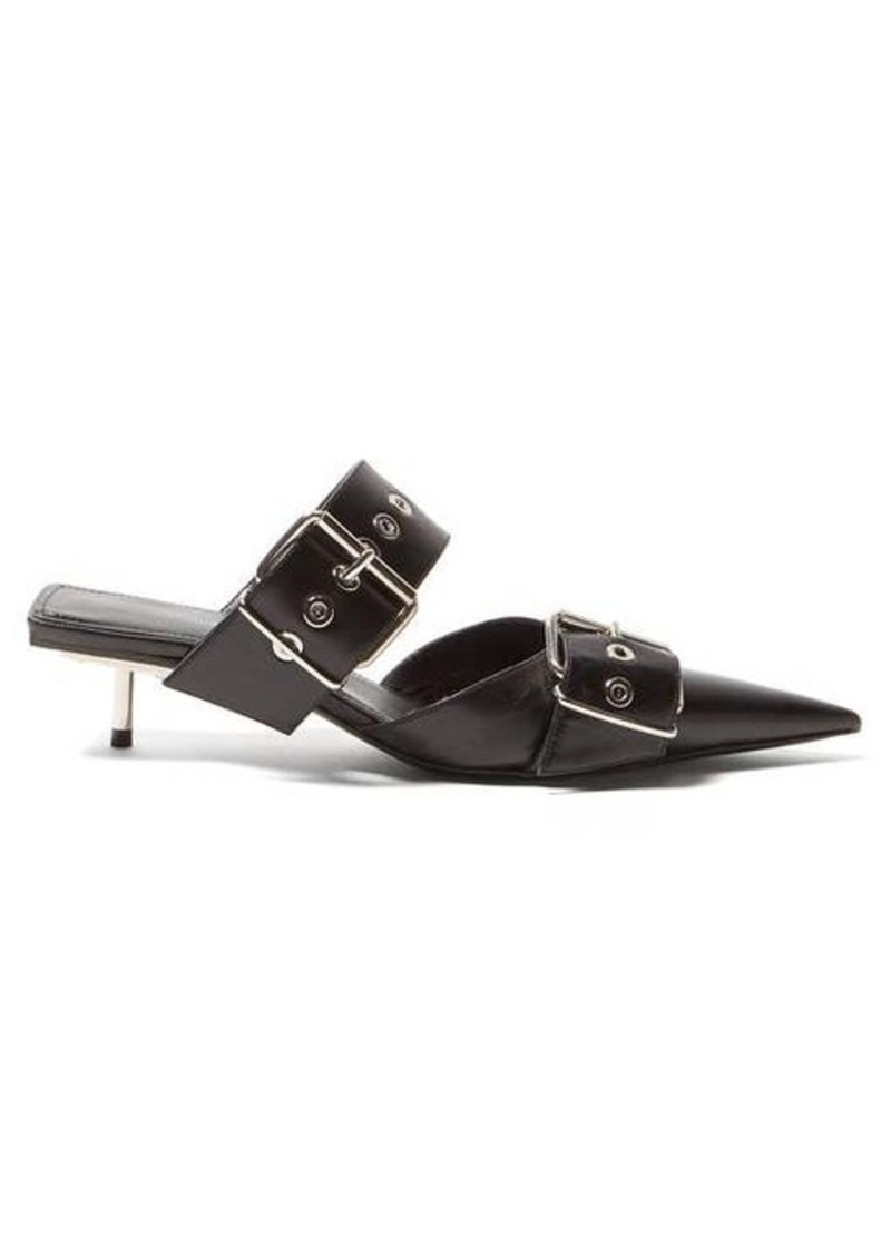 Balenciaga Belt Buckle leather mules