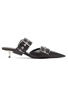 Balenciaga Belt buckled leather mules