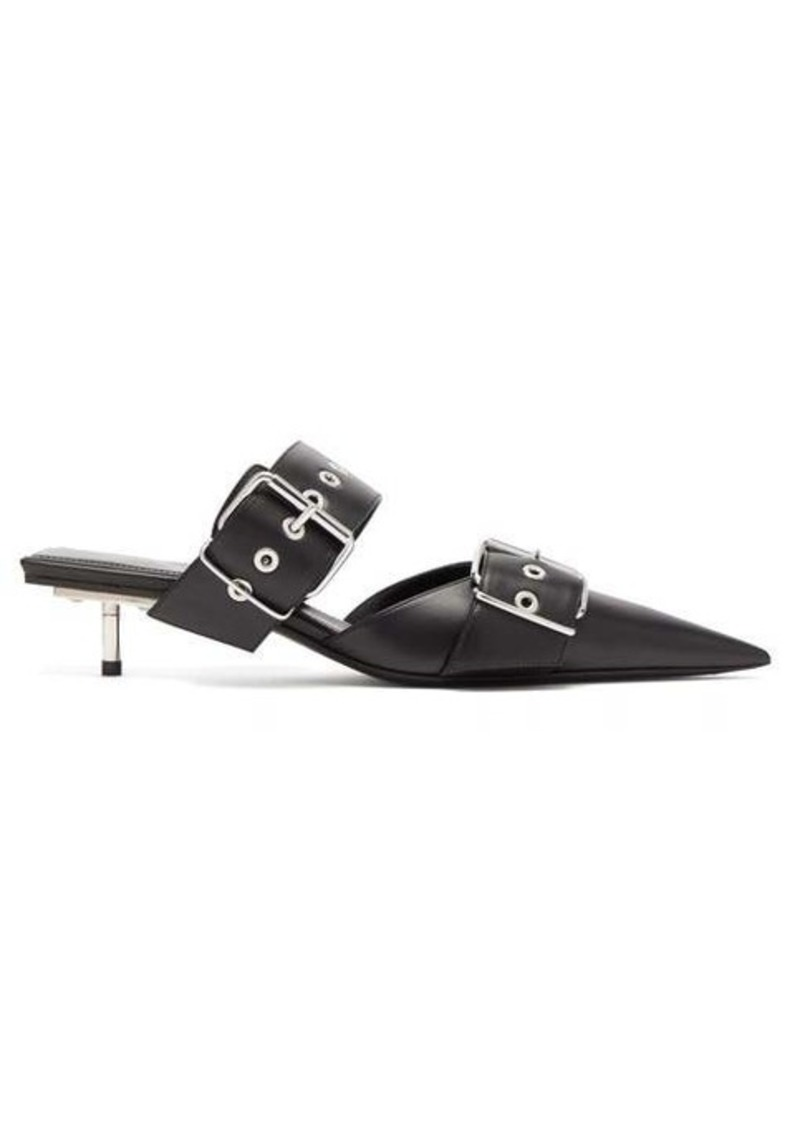Balenciaga Belt buckled leather mules
