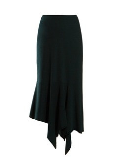 Balenciaga Bias-cut midi skirt