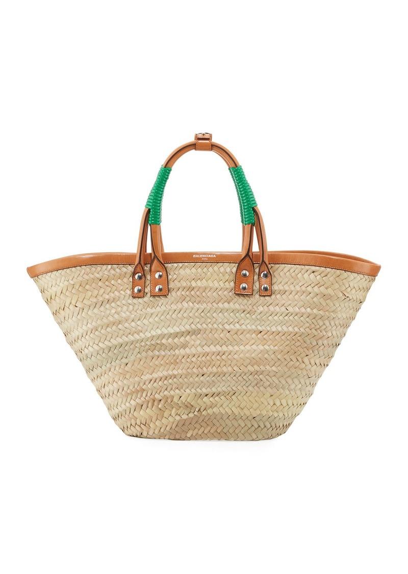 8e9f32673e24 Balenciaga Balenciaga Bistro Panier Small Straw Tote Bag | Handbags