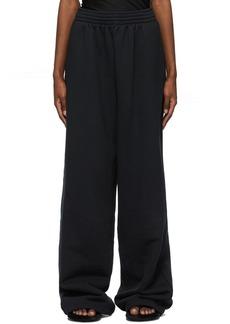 Balenciaga Black Baggy Lounge Pants