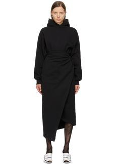 Balenciaga Black Easywrap Hooded Dress