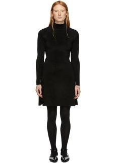 Balenciaga Black Knit A-Line Dress