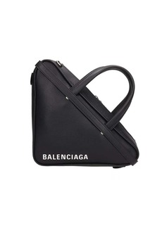 Balenciaga Black Leather Triangular Bag