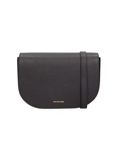 Balenciaga Black Leather Ville Day Handbag