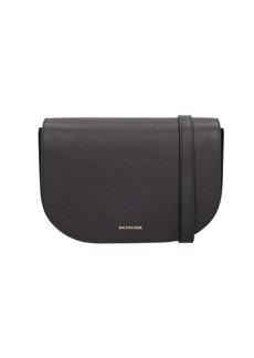 Balenciaga Black Leather Ville Day Handbag
