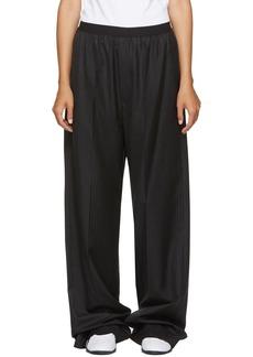 Balenciaga Black Pinstriped Elastic Waist Trousers