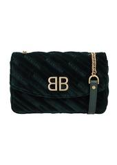 Balenciaga Black Suede Bb Bag Matelasse