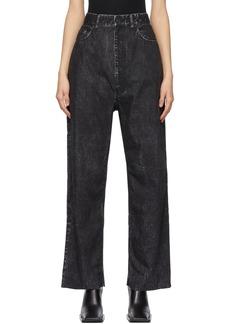 Balenciaga Black Trompe-l'ail Baggy Trousers