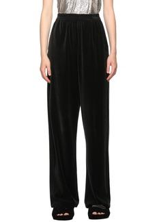 Balenciaga Black Velvet Lounge Pants